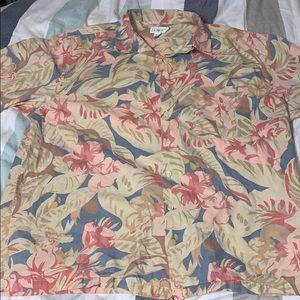 Vintage J Crew Hawaiian Floral Button up